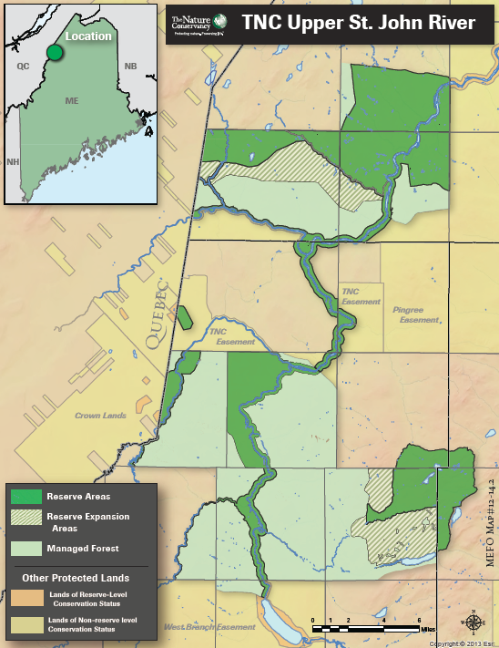 St John River Maine Map.The Nature Conservancy In Maine Remaking Forests For A Changing