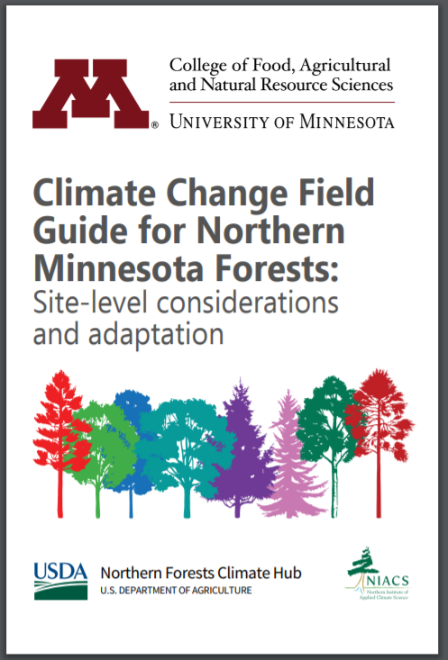 Climate change field guide cover for MN