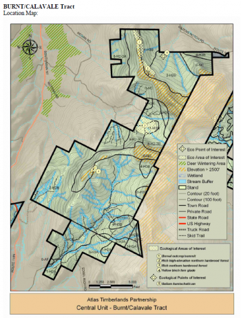 Map of Burnt/Calavale tract (5,493 acres)