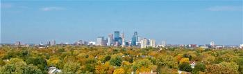 shot of minneapolis skyline