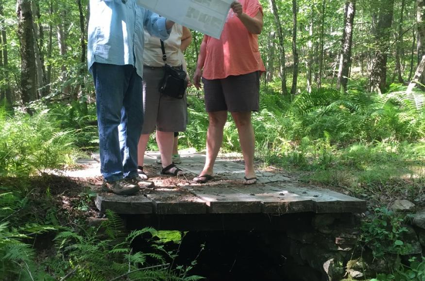 woodland owners looking at a map