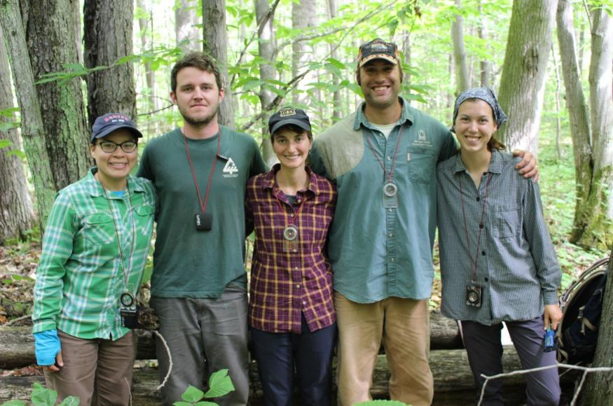 The field crew of UMBS researchers involved in this project. (Credit: Jenny Kalejs)