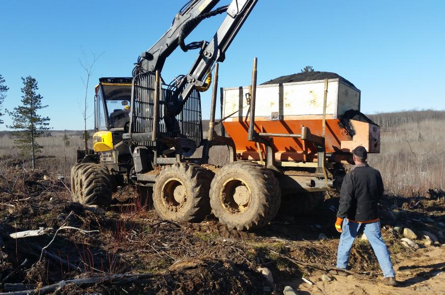 Florence County created a wood ash spreader for use in this project.
